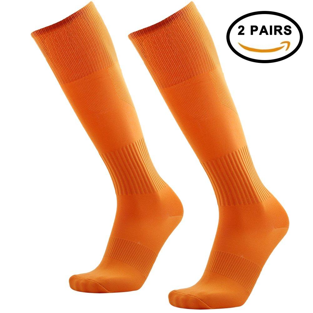 Tattooサッカーソックス、3streetユニセックスニーハイプリントチューブソックス2 / 6ペア B074349398 03#2 Pairs Orange-Unisex 03#2 Pairs Orange-Unisex