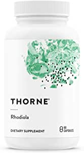 Thorne Research - Rhodiola - Botanical Supplement for Stress Relief - Enhances Mood, Sleep, and Mental Focus - 60 Capsules