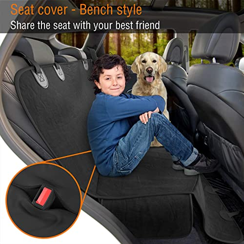 Active Pets Dog Back Seat Cover Protector Waterproof Scratchproof Hammock for Dogs Backseat Protection Against Dirt and Pet Fur Durable Pets Seat Covers for Cars SUVs