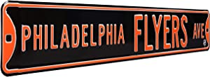 NHL Philadelphia Flyers Ave, Metal Wall Decor- Large, Heavy Duty Steel Street Sign – Hockey Wall Decor for Dorm Room Decorations, Man Cave Decor, Office and Gifts
