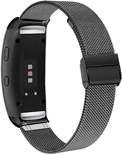 Uhr Ersatzarmband für Samsung Gear Fit2 Gear Fit 2 Pro Uhrenarmband Edelstahl