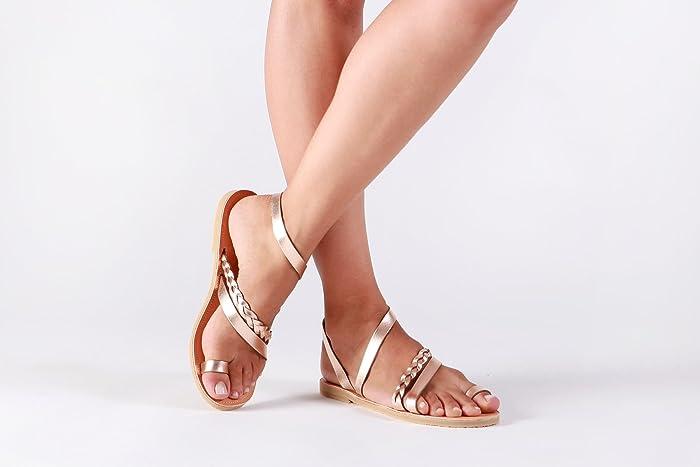 11b14ba321a0 Amazon.com  Women leather sandals