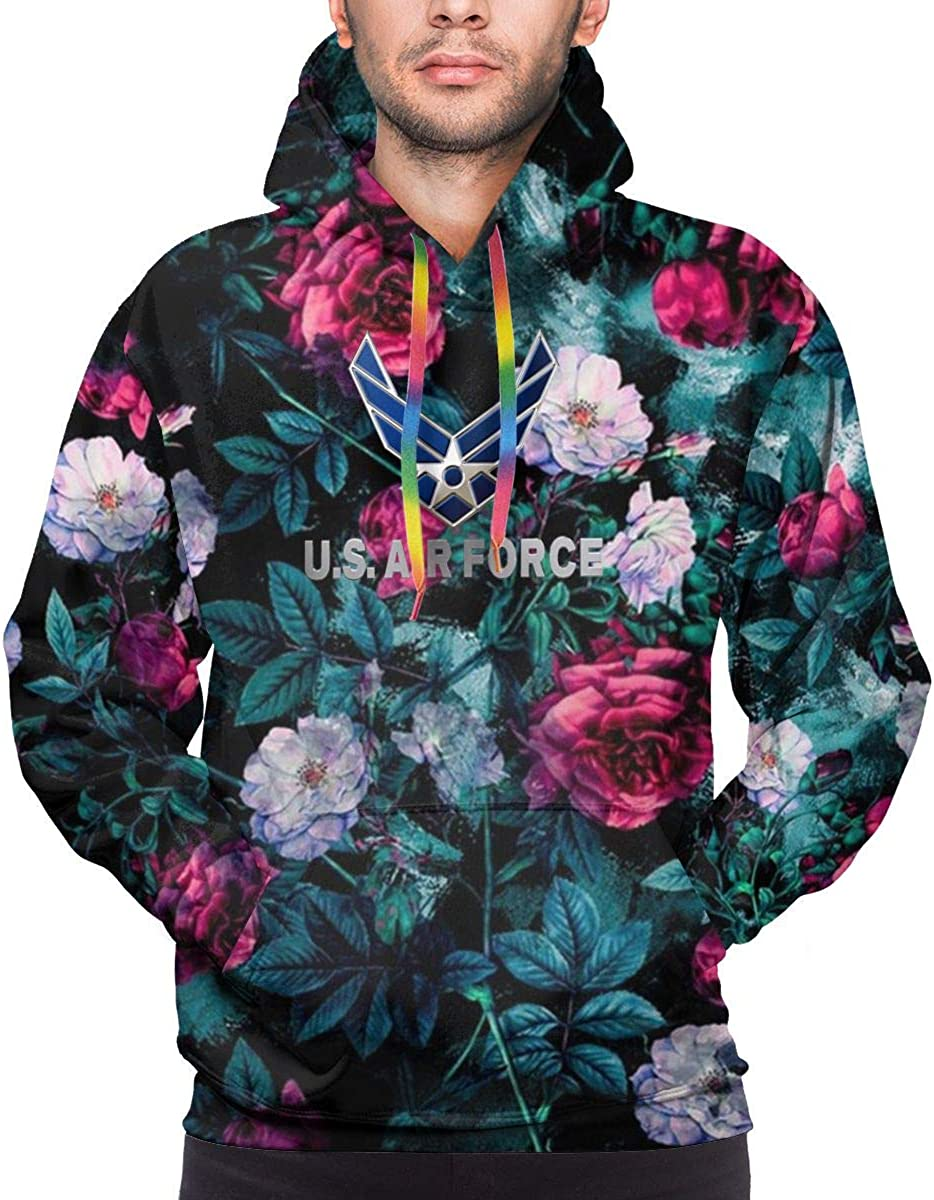 MUSICOT Mens Athletic Pullover Cozy Sport Outwear US Air Force Sweatshirt Hoodies