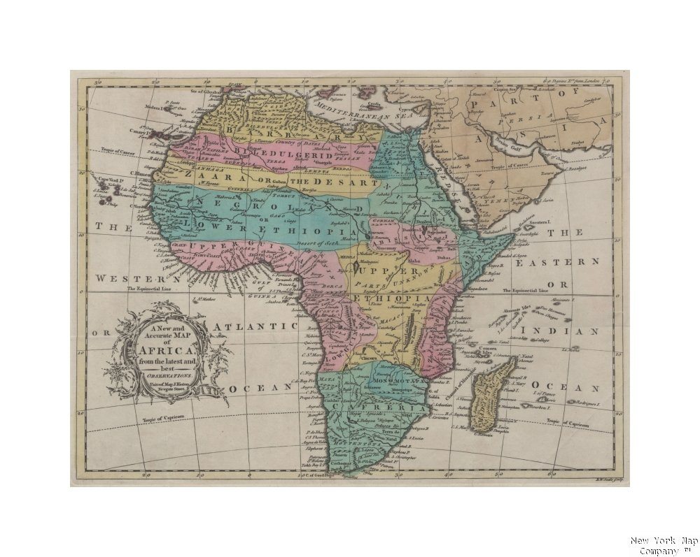 Accurate Map Of Africa.Amazon Com 1747 1766 Map Newgate Street Londo A Accurate Map Africa