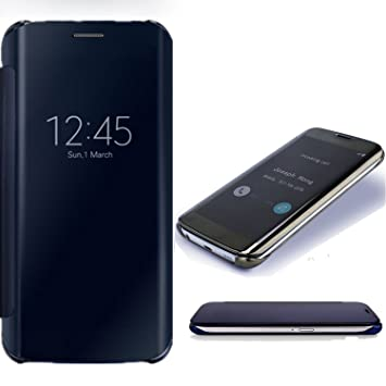 SevenPanda Estuche para teléfono Celular Huawei P10 Lite, Estuche Huawei P10 Lite, Lujo Espejo Transparente Dar la Vuelta Funda Protectora Teléfono ...