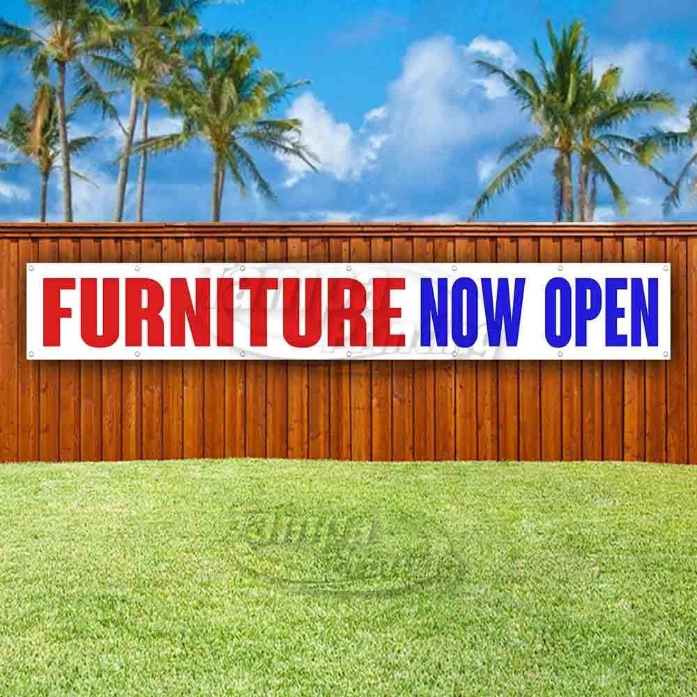Many Sizes Available Flag, Store New Furniture Now Open Extra Large 13 oz Heavy Duty Vinyl Banner Sign with Metal Grommets Advertising
