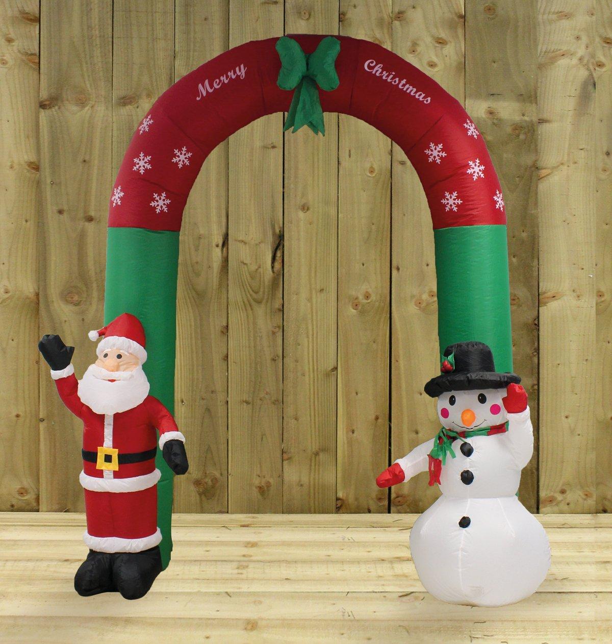 a5a370d1f8142 Kingfisher Arco Hinchable de Papá Noel y Muñeco de Nieve (240 cm)   Amazon.es  Hogar