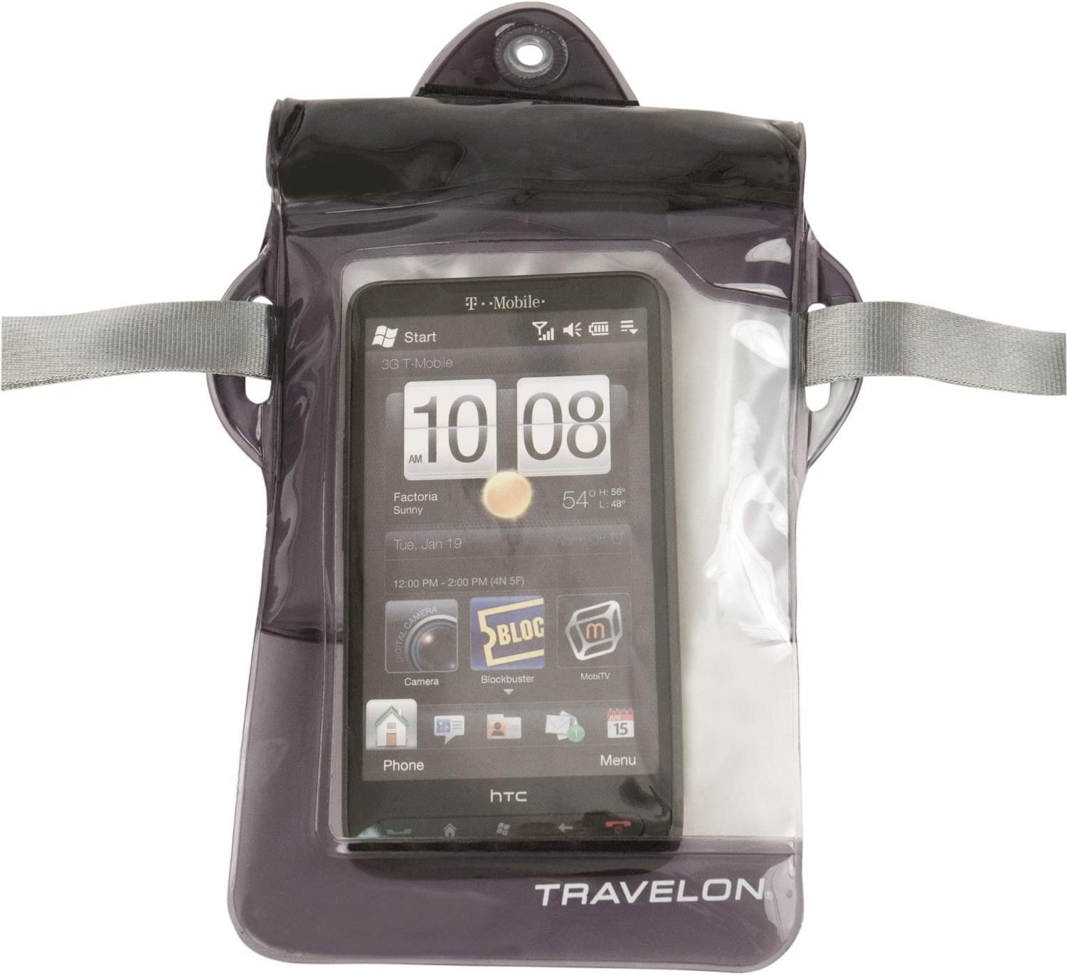Clear//Black Travelon Luggage Waterproof Money Pouch One Size