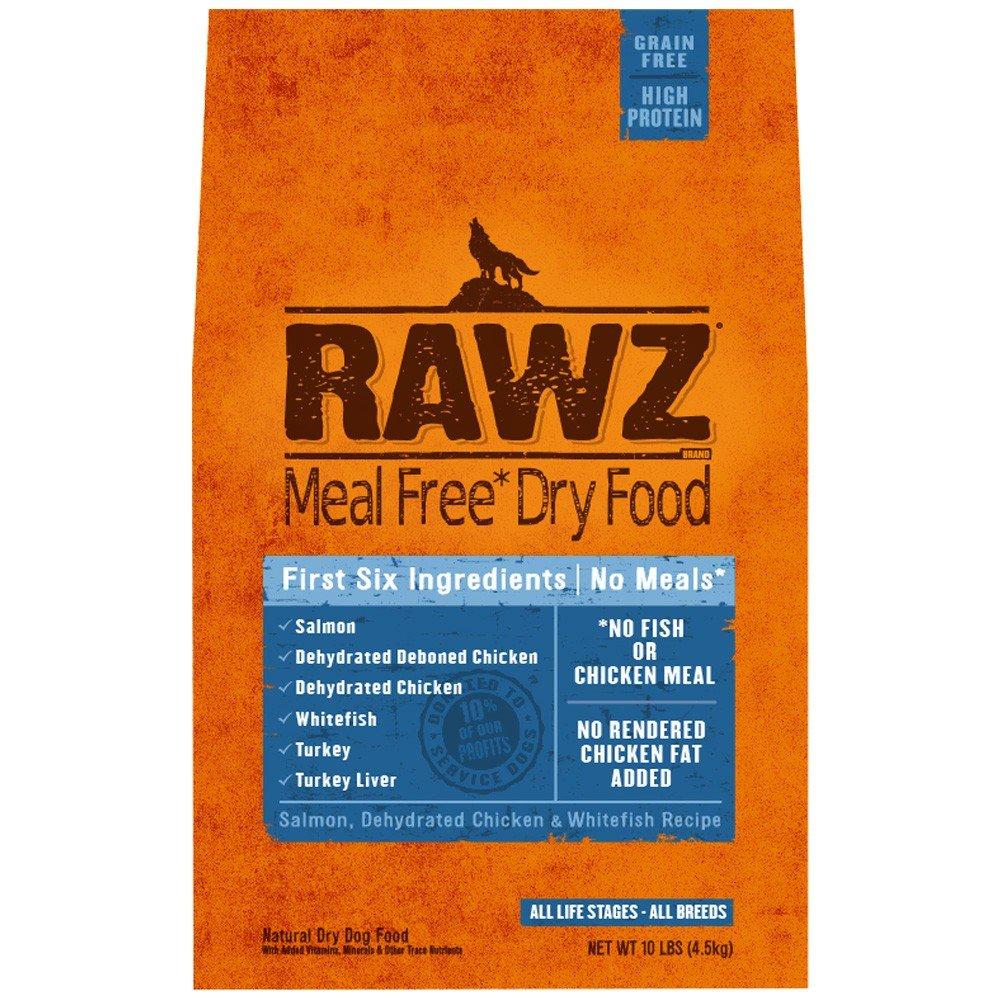 Rawzreg; Meal Free Dry Dog Food Salmon, Dehydrated Chicken Whitefish Recipe (10 lb)
