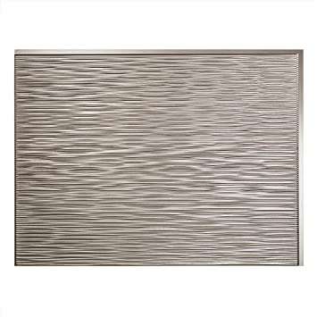 Fasade Easy Installation Ripple Brushed Nickel Backsplash Panel For Kitchen And Bathrooms 18 Quot X
