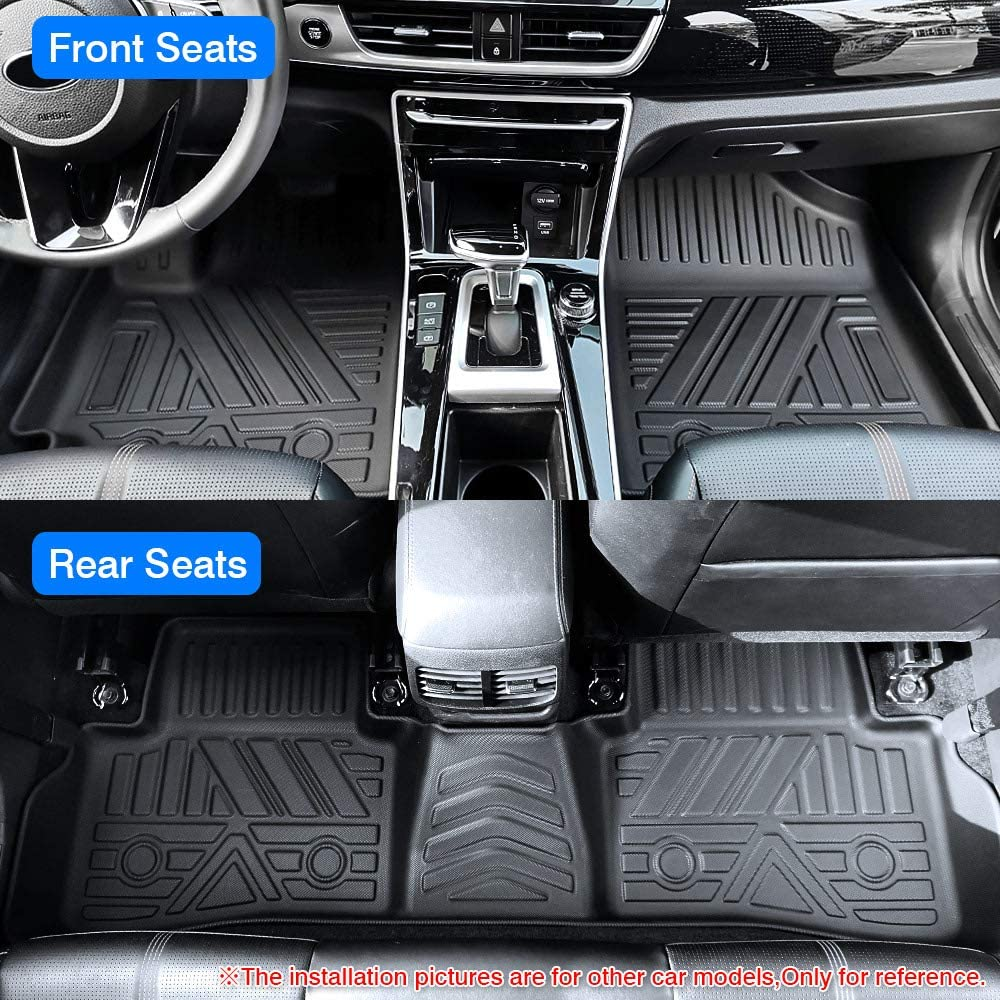 KUST 2020 Upgrade Non-Slips Floor Mats for Volvo XC60 2018-2021 Odorless Floor Liner for 2020 XC60 1st /& 2nd Row All Weather