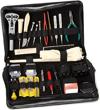 Gran kit de herramientas S1 Deluxe PREMIUM en estuche, para relojero aficionado: Amazon.es: Bricolaje y herramientas
