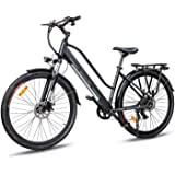 Macwheel 700C Electric Bike, Rear Hub Brushless 36V 350W, Removable 360Wh 36V/10Ah Lithium Battery, Shimano 7-Speed…