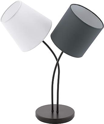 Eglo Lampe de table Almeida, 2 lampes en textile, lampe de