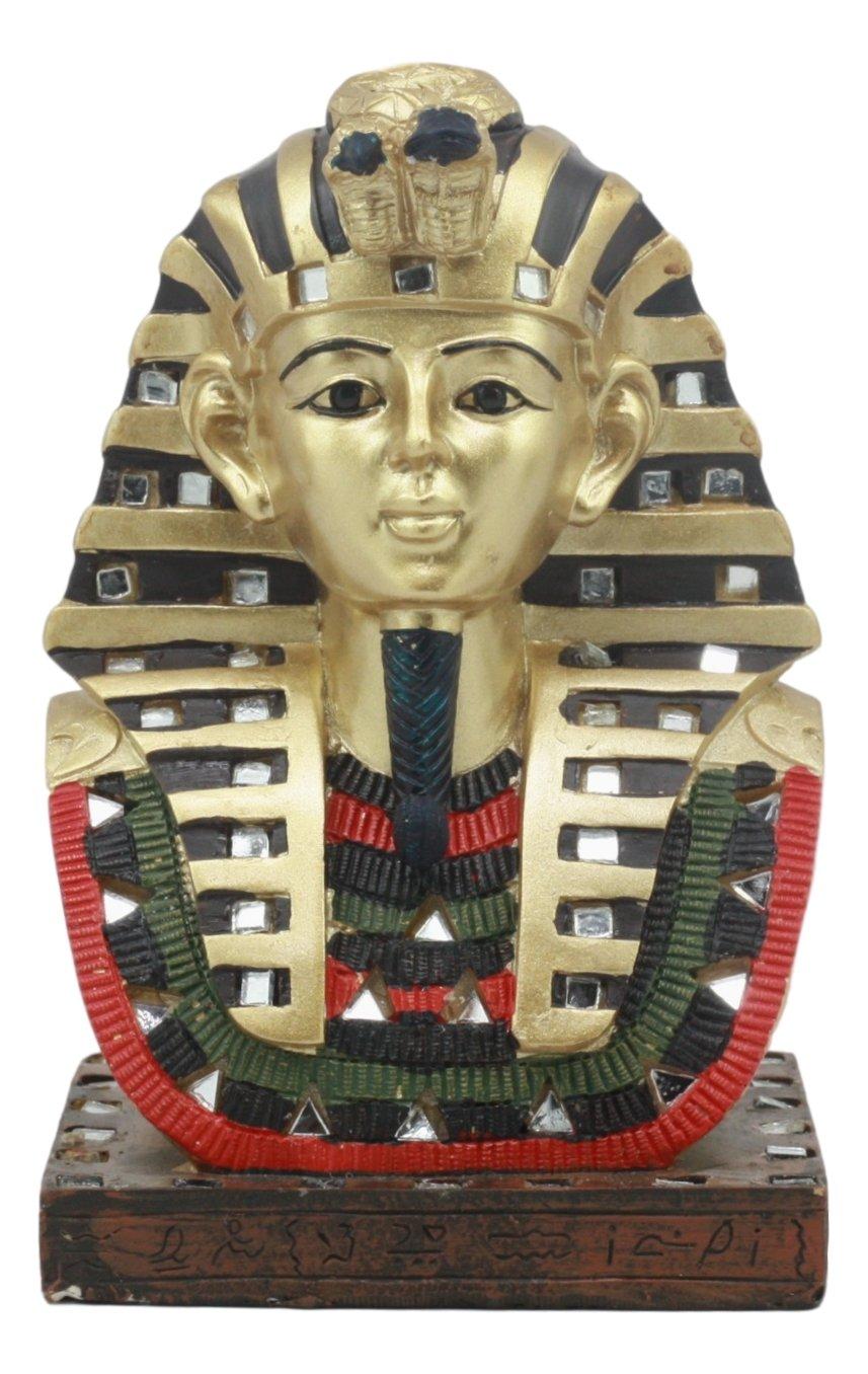 Ancient egipcio Pharaoh rey Tut Busto Estatua de máscara 6