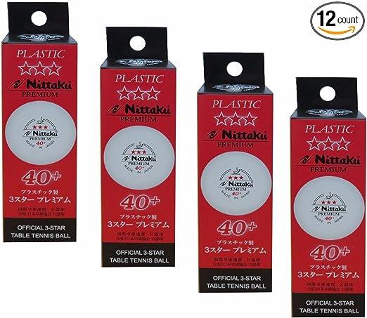 Nittaku 3-Star Premium 40+ Ping Pong Balls - Best Competition Balls