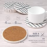 6 Pieces Coasters for Drinks HIRALIY Absorbent