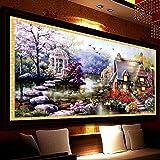 SHIAWASENA クロスステッチ セット 美しい景色 刺繍キット ホームの装飾 手芸 70*40cm