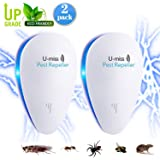 Ultrasonic Pest Repeller, Electronic Pest Repeller Plug in for Bugs and Insects, Mice Repellent to Repel and Prevent Mouse, Ant, Mosquito, Spider, Rodent, Roach,Child and Pets Safe Control(2 Packs)