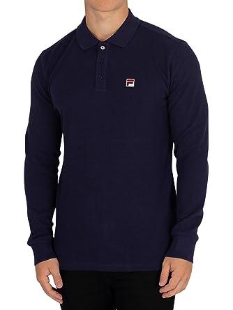 Fila Vintage Bertoni Long Sleeve Slim Fit Polo Shirt ...