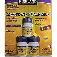 Kirkland Signature Esomeprazole Magnesium Acid Reducer 42 Capsules 20mg Delayed Release