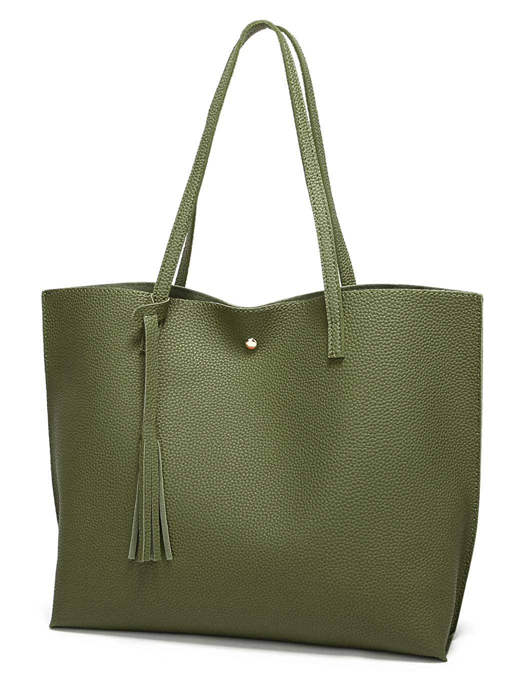 072f1acb9f345 Amazon.com  Women s Soft Leather Tote Shoulder Bag from Dreubea