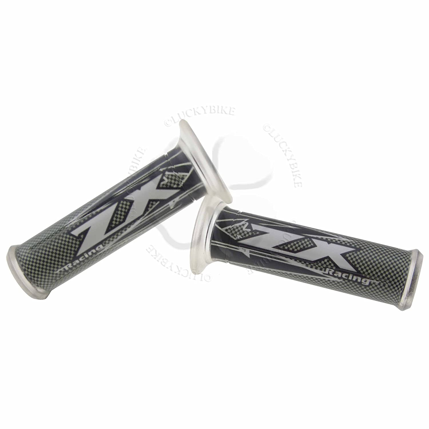 Hand Grip 7//8 Black For Kawasaki ZX Gel Handle Bar 22mm Left Right Front