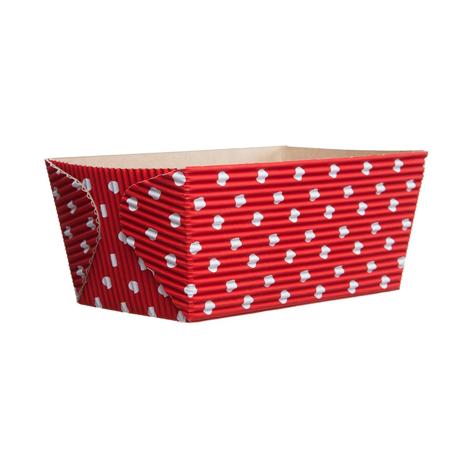 Welcome Home Brands CT8220 Red-with-White-Dots Rectangular Loaf Baking Pan 15.5 Ounce Volume, 4.5 Inch x 2.5 Inch x 2.3 Inch High - Pack of 50