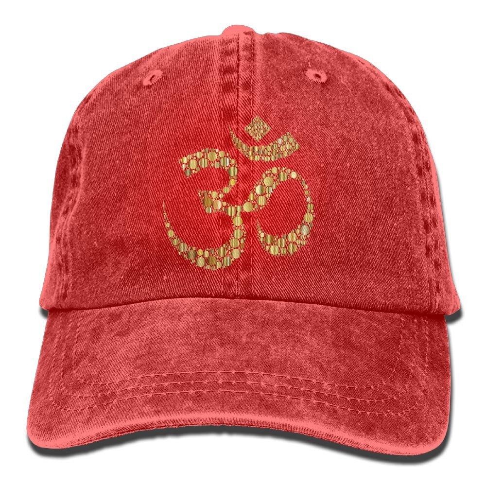 12e93eec772 Baseball-caps MOLLYY Golden Om Symbol Circles Unisex Fashion Painting  Snapback Adjustable Hip-Hop Hats Ash at Amazon Men s Clothing store