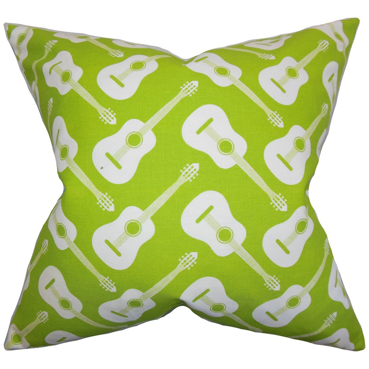 The Pillow Collection P18FLAT-PP-ACOUSTIC-CHARTREUSE-C10 Roxie Geometric Throw Pillow Cover 18 x 18