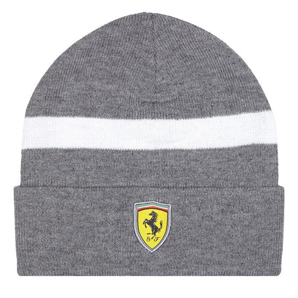 Bonnet tricoté Ferrari avec logo Ferrari brodé, gamme de 2017, produit officiel Noir taille unique Branded