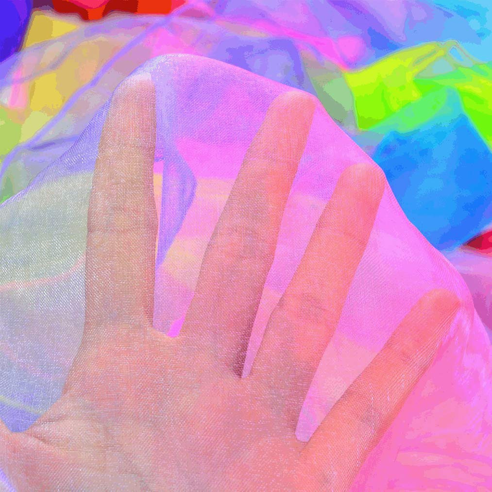 Poualss 30 Pieces Dance Scarves,Gradient Colors Square Juggling Dance Scarves,Multicolour Juggling Scarves,Performance Props Accessories for Kids Party Dance Activities