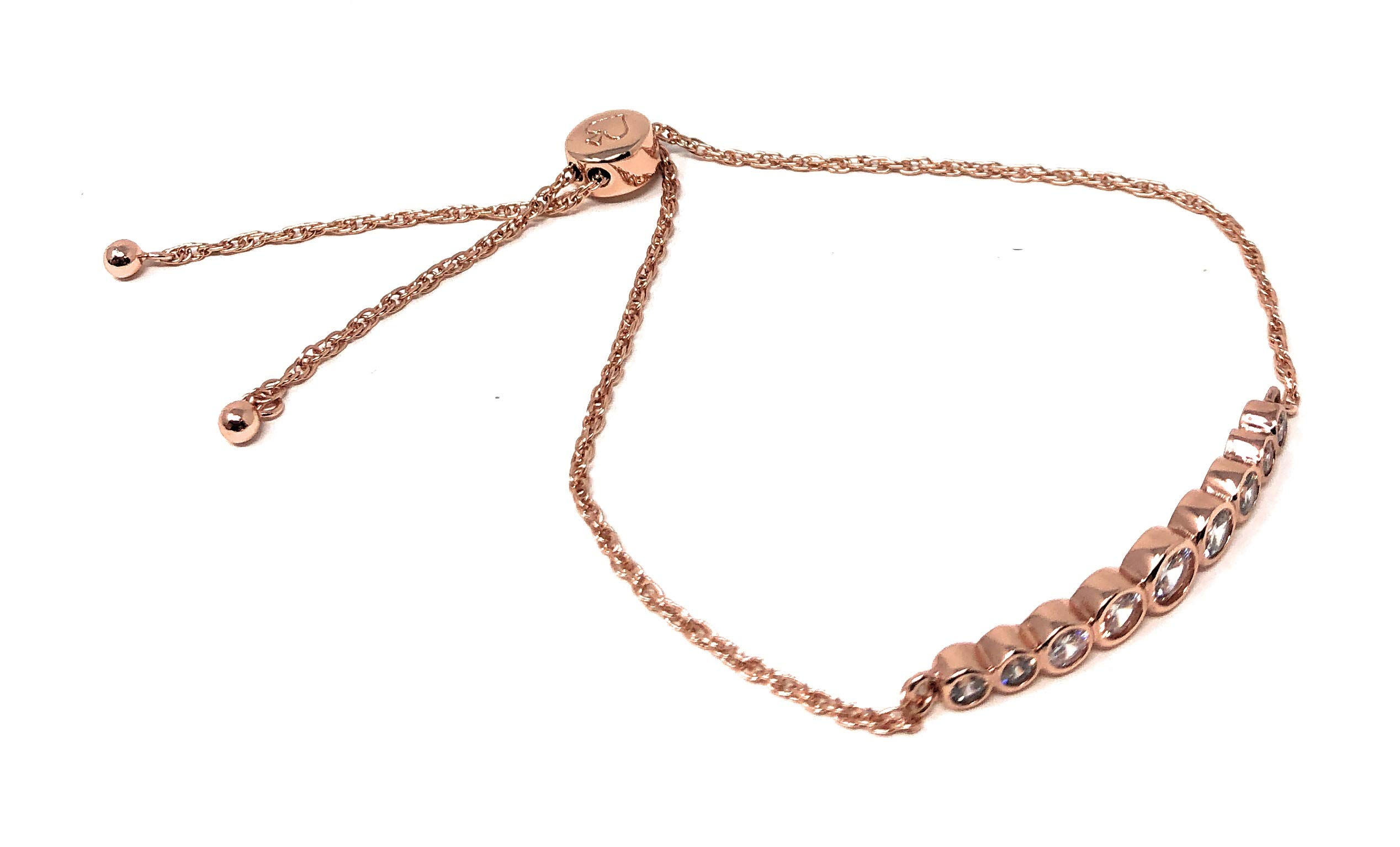 Kate Spade Circle of Love Rose Gold Plated Adjustable Chain Bracelet by Kate Spade New York