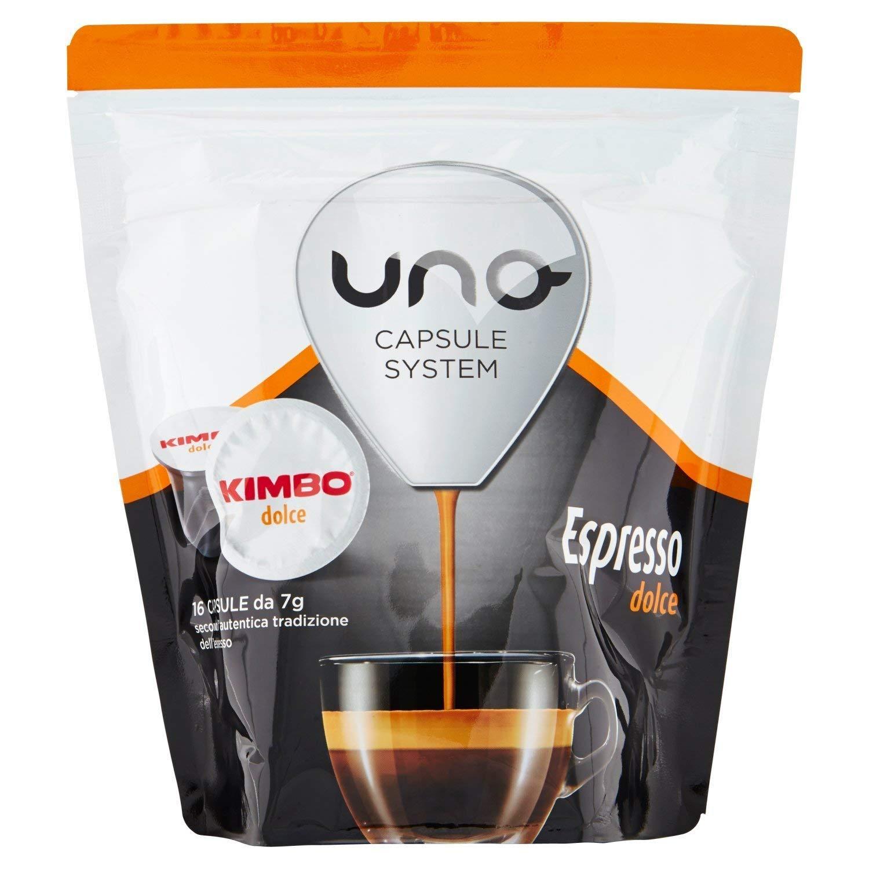 Uno system kimbo - Cápsulas espresso dolce 100% arabica 16 bebidas ...