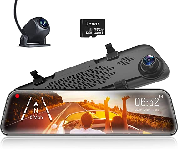 Wolfbox Spiegel Dashcam Frontkamera Und Rückfahrkamera Elektronik