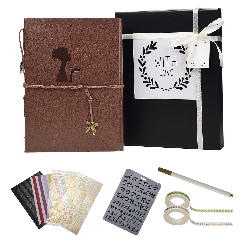 Veesun Album Photos Avec Coffret Cadeau Et Scrapbooking Materiel Traditionnel Scrapbook Pages Noires Diy Adhesif Mariage Livre D Or Idee Cadeau Femme