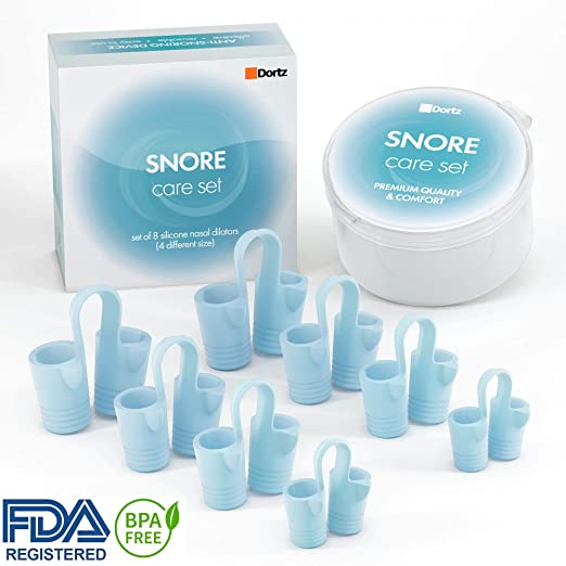 Dortz Anti Snoring Devices - Snoring Solution - Snore Stopper Set - Anti Snoring Solutions - Anti Snoring Solutions - 8 Anti Snoring Nose Vents - Anti Snoring Device- Snoring Stopper Nasal Dilators