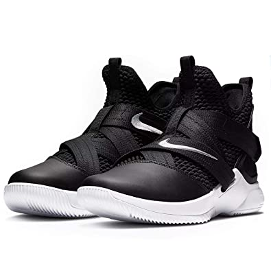 reputable site f08bd b66ef Nike Zoom Lebron Soldier XII TB Basketball Shoes (M4.5 W6, Black