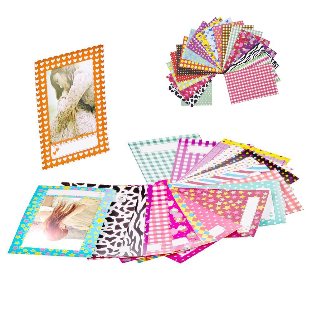 Generi Mini Instant Film Twin Packs, 20 Total Pictures+ Free 20 Border Stickers