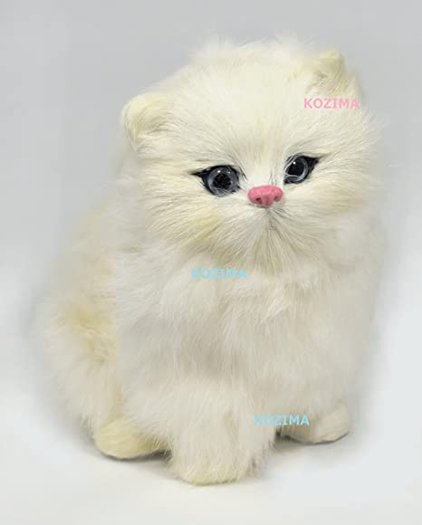 Stuffed cat Real cat Nyan (white) with bonus