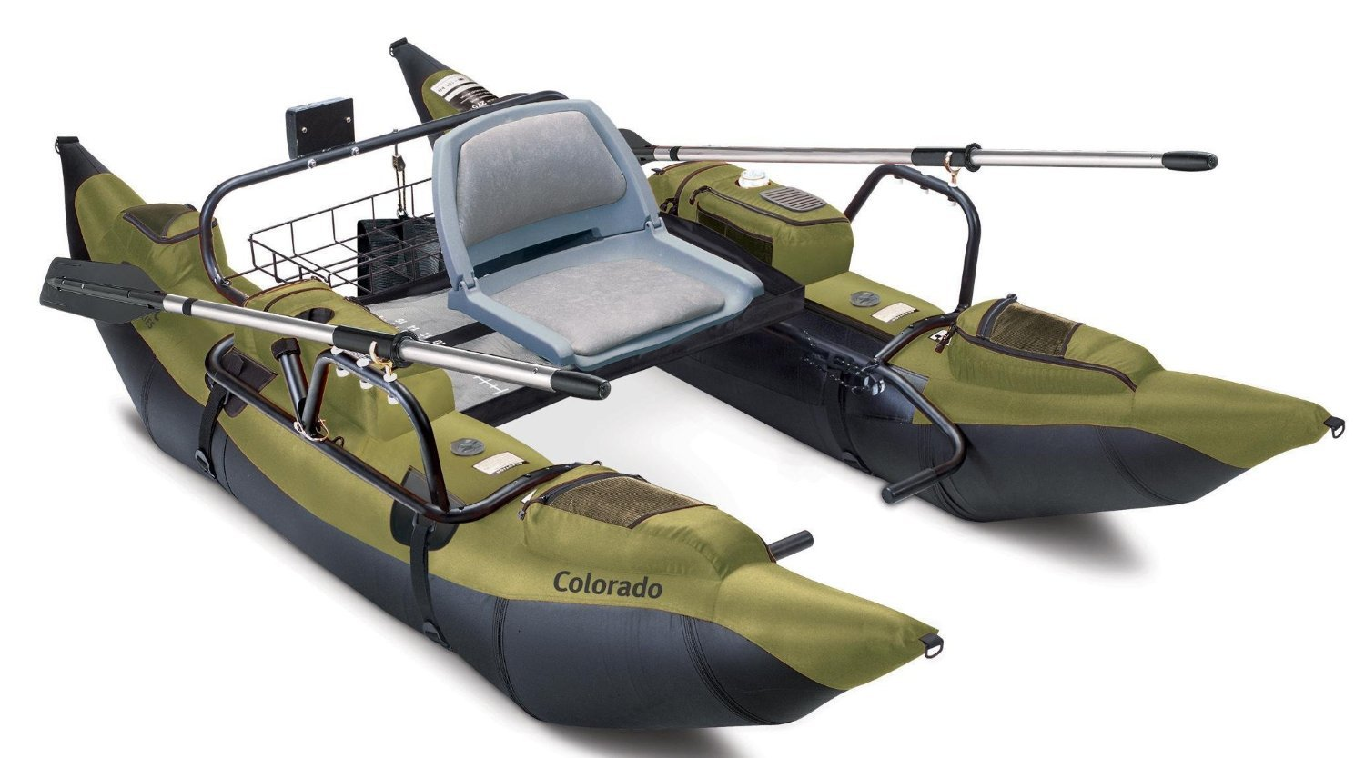 Classic Accessories Colorado Inflatable Fishing Pontoon Boat With Motor Mount by Classic Accessories