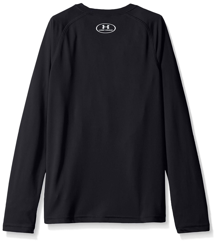 faafefea7 Amazon.com: Under Armour Armor Boys' Big Logo Long Sleeve t-Shirt: Clothing