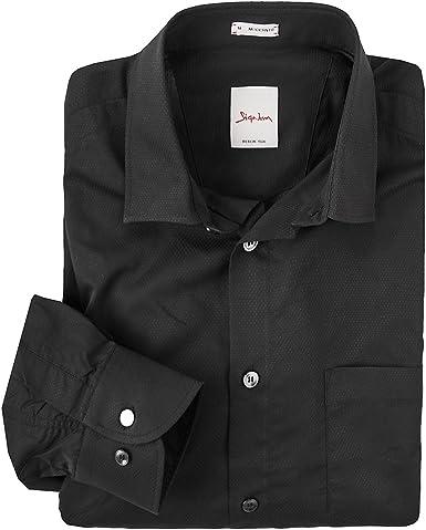 Signum XXL Camisa Manga Larga estructurada Negra, 2xl-8xl:2XL: Amazon.es: Ropa y accesorios
