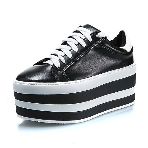 pretty nice 02978 20c6b MForshop scarpe donna stringate lacci carrarmato doppia ...