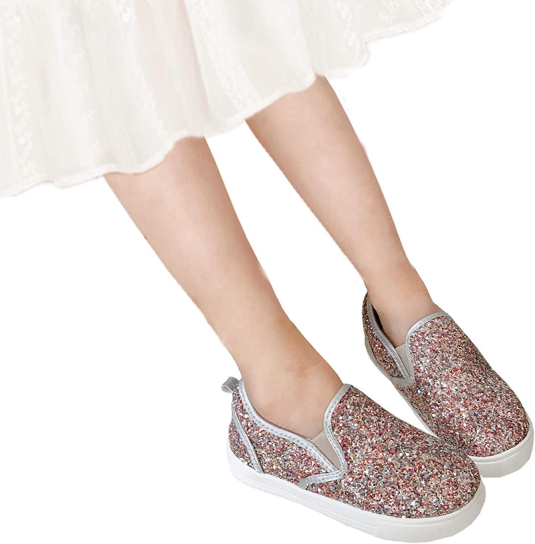 THEE BRON Girls Glitter Princess Sneakers