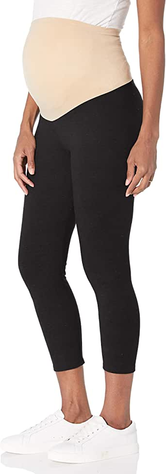 Motherhood Maternity Women's Maternity Essential Stretch Crop Length Secret Fit Belly Leggings