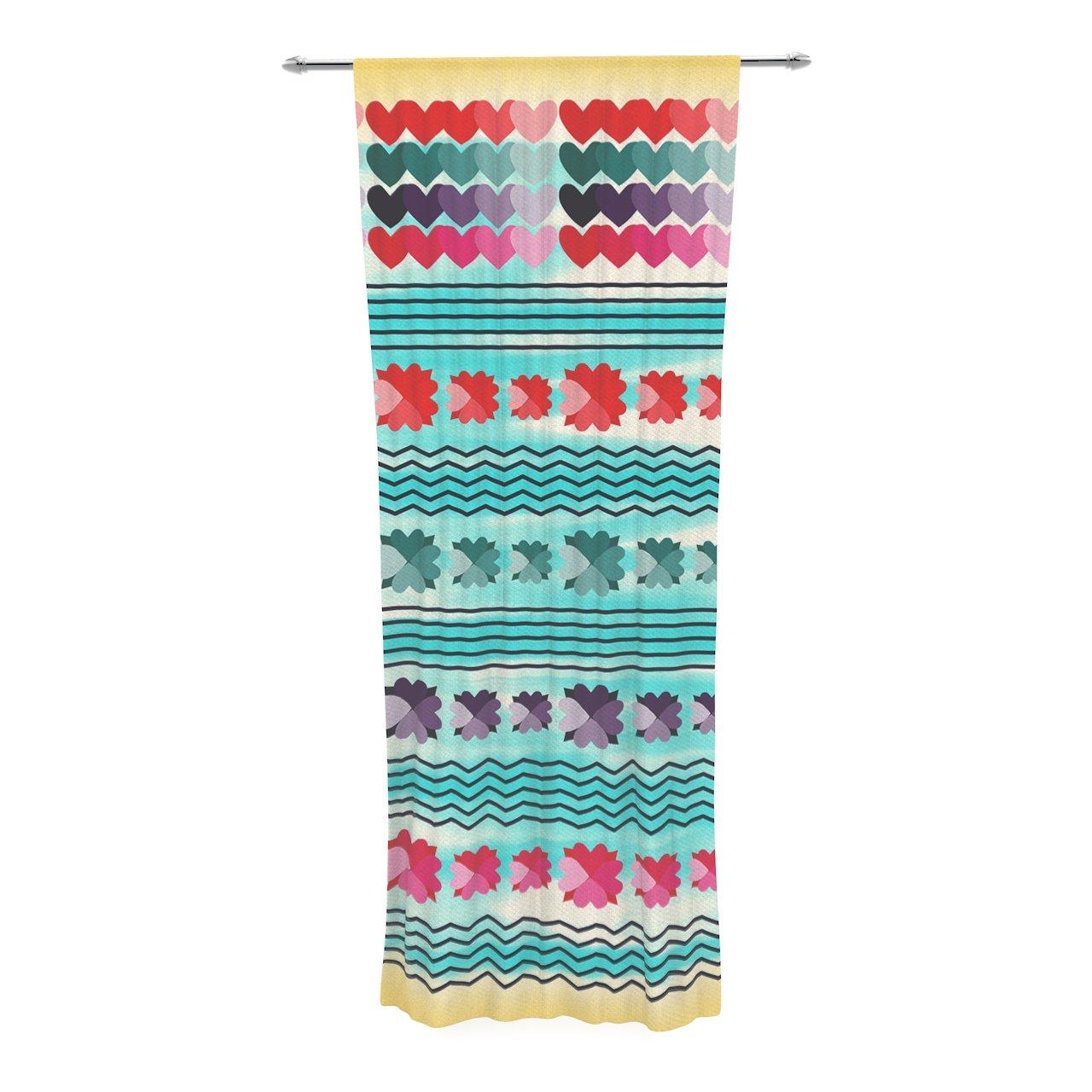 30 x 84 Sheer Curtains Kess InHouse Oriana Cordero Agate Blue Orange Decorative Set