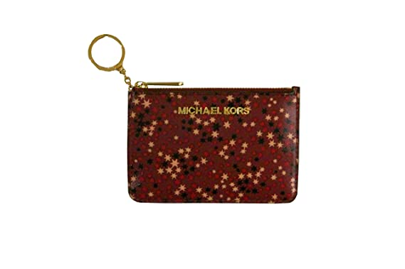 93fb999fd83177 Michael Kors Mulberry Stars Limited Edition Jet Set Card Case Key Pouch  Wallet: Amazon.co.uk: Clothing