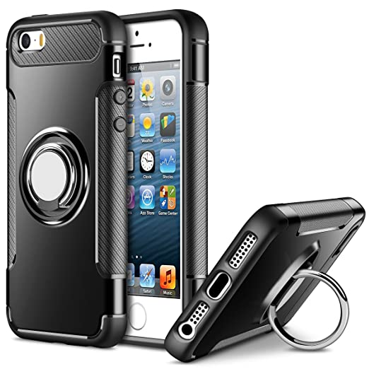 2 opinioni per Cover iPhone 5S,Cover iPhone SE,Cover iPhone 5,Cheeringary Slim Hybrid
