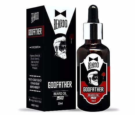 Beardo Padrino Lite barba y bigote – Aceite 30 ml con ingredientes naturales – Aceite de